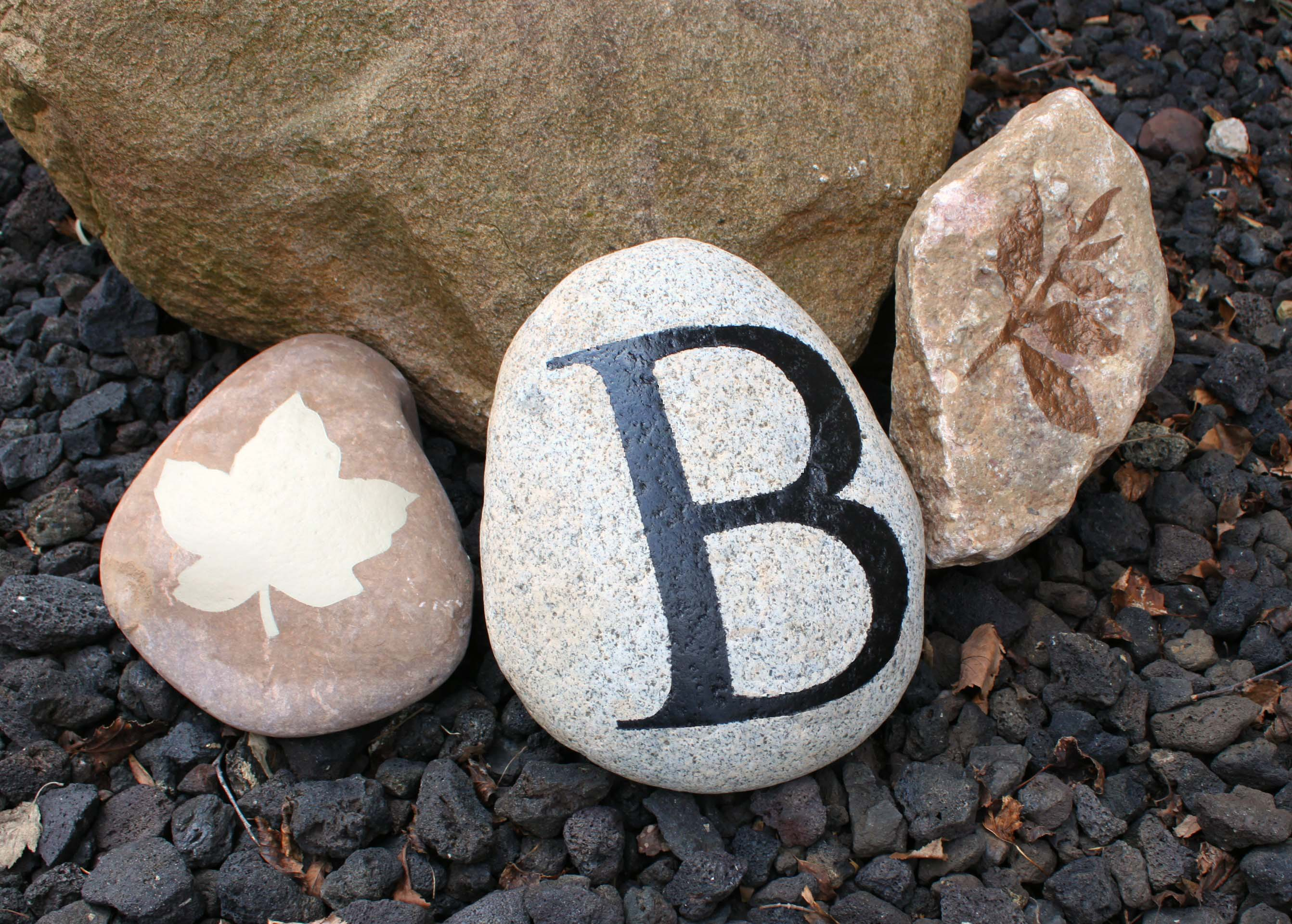 Stenciled Garden Rocks Sometimes Homemade