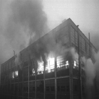 Packard factory fire