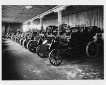 row of finished cars