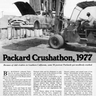 Packard Crushathon circa 1977