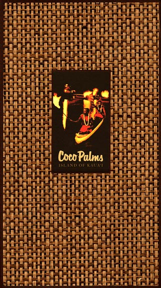 Coco Palms guest book