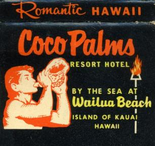 Coco Palms matchbook