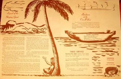 Coco Palms menu