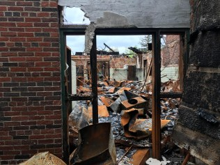 Forest Haven Dogwood Cottage after fire