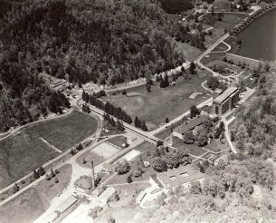 1970 aerial photo of Pressmen's Home.