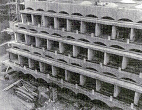 Construction of Main block, 1965