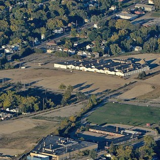 Aerial of 54-acre site