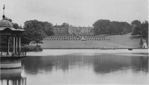 Pirrie's manor overlooking Thursley Lake