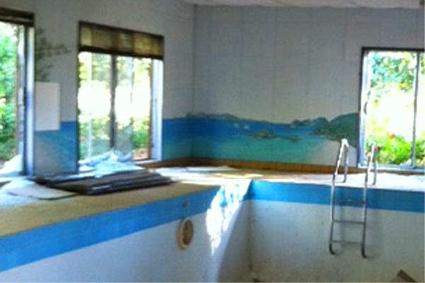 Overhills indoor pool Bird Song Cottage
