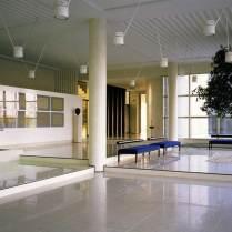 The lobby of Bugatti Automobili in 1993.