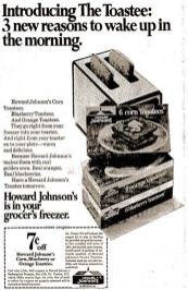 Howard Johnson's frozen corn toastees ad 1970
