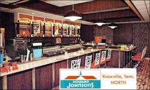 Interior of Knoxville, TN Howard Johnson's Hotel 1970s