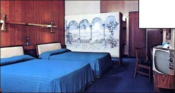 Guest room of Knoxville, TN Howard Johnson's Hotel 1970s