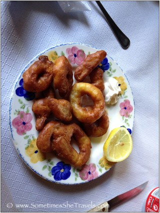 fried calamari on a plate