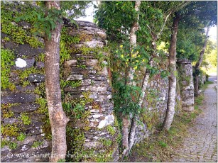 Amazing old stone wall and cobblestones
