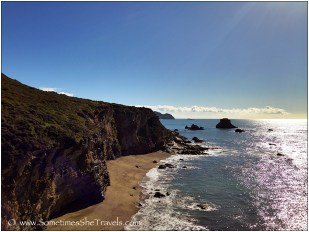Alamere Falls is only a couple miles down the coast