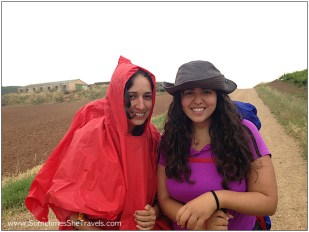 Yeni and Ana, the sister from Mexico who walked from Vezelay, France.