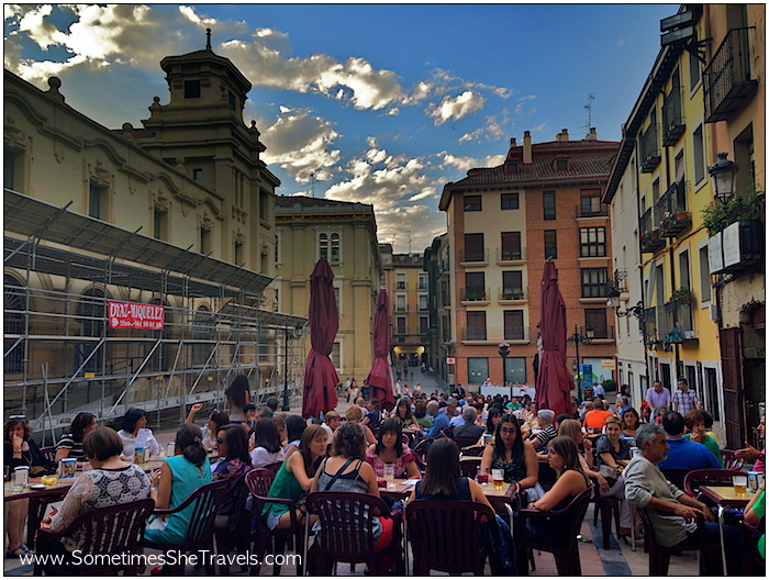 2056/Logroño The air was warm and it felt like the entire world was dining in the streets...