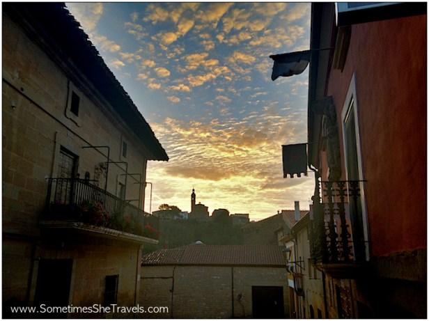 Camino de Santiago: Sansol Sunrise from Torres del Rio