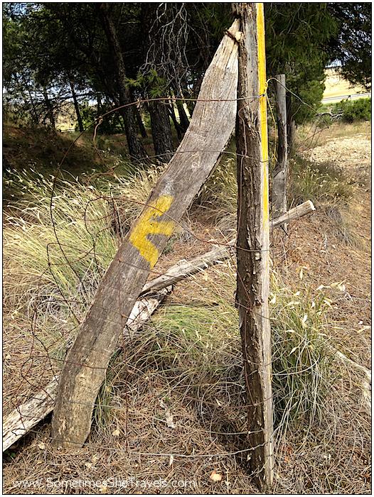 Camino de Santiago: Fencepost Arrow