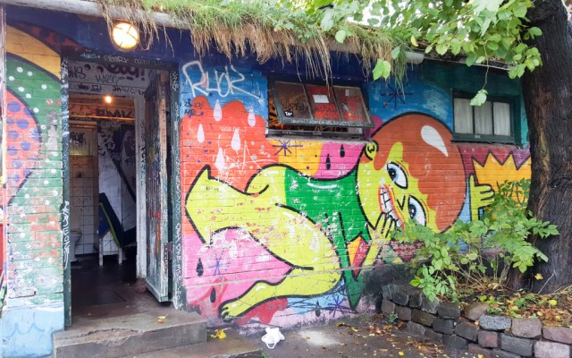 Public toilets in Christiania Copenhagen