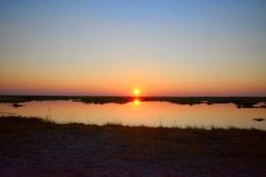 Linyanti sunset Botswana