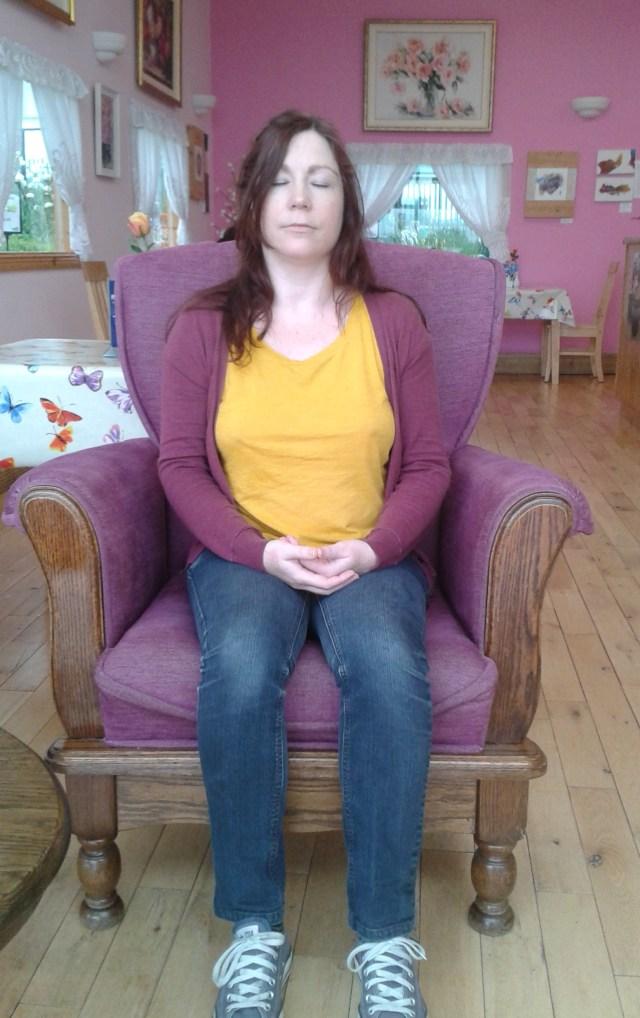 Hilda meditating