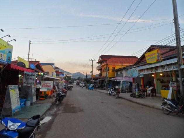 Vang Vieng town centre, Laos