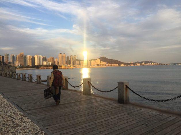 Dalian city and sea