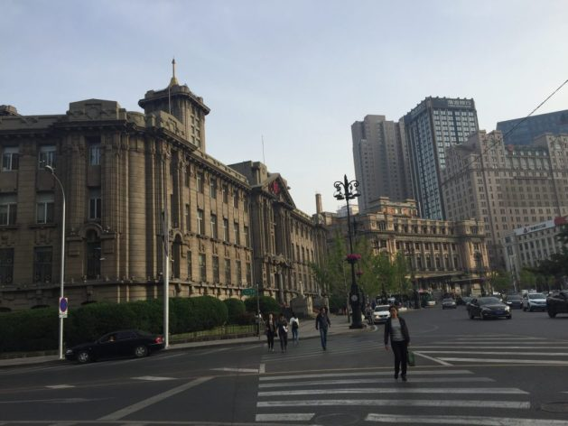 Historical buildings in Zhongshan Square, Dalian