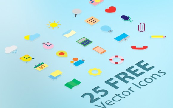 25-Free-Flat-Vector-Icons