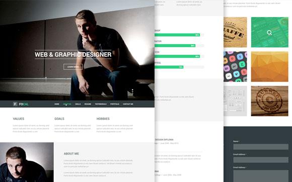 Focal-Resume-PSD-Theme