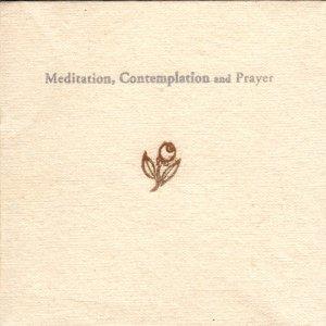 Jesse Eubanks Meditations, Contemplations, and Prayers