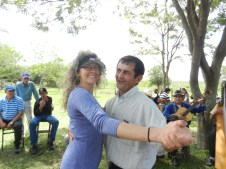 Fiesta Patronal 2014; dancing polka with a man who has proposed 3 times. I told him this one dance was the closest he would ever get to me being his bride. We had a good laugh over it.