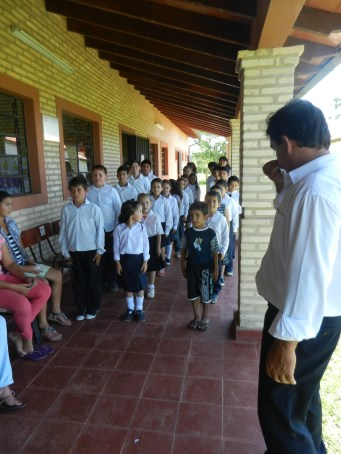 End-of-school-year expo - kids are lined up and ready to present their projects and learnings from the year