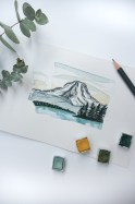 Washington Outline Watercolor Mountain is Out Print