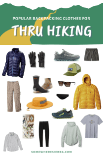 Lightweight Backpacking Gear for Thru Hiking | Somewhere Sierra