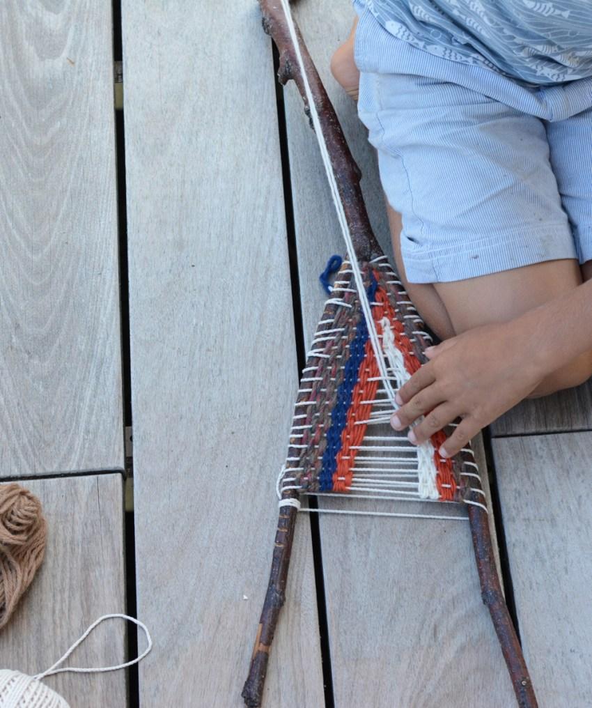 quin stick weaving