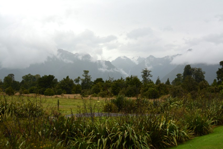 view from Lake Matheson