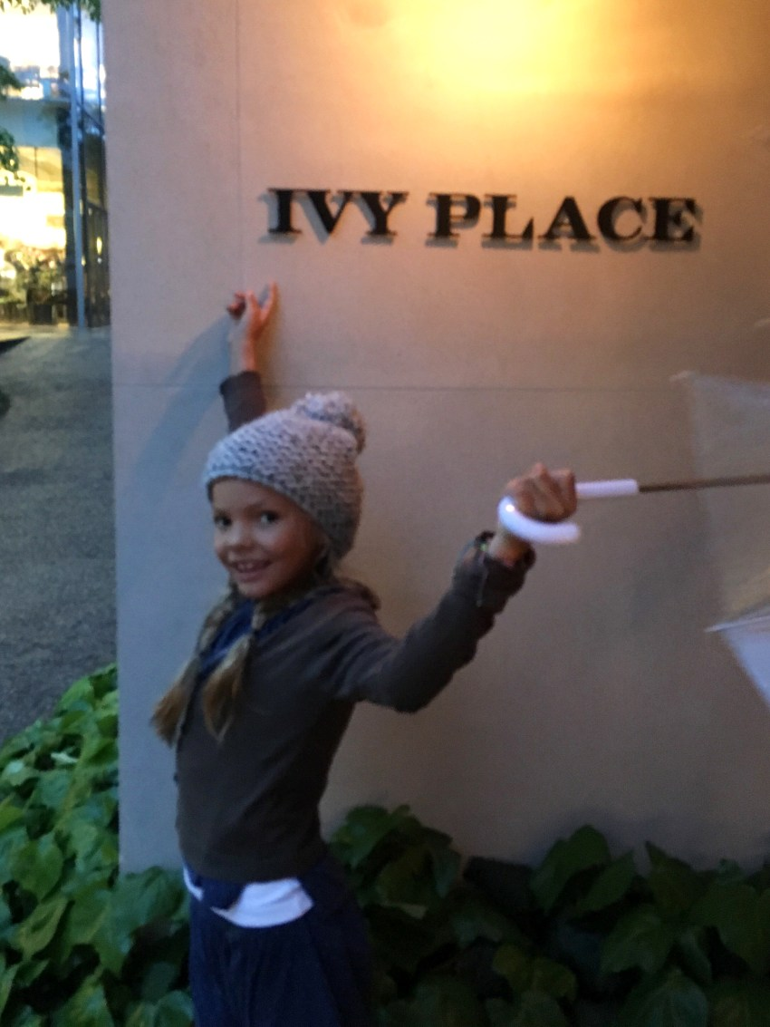 Ivy in front of Ivy Place