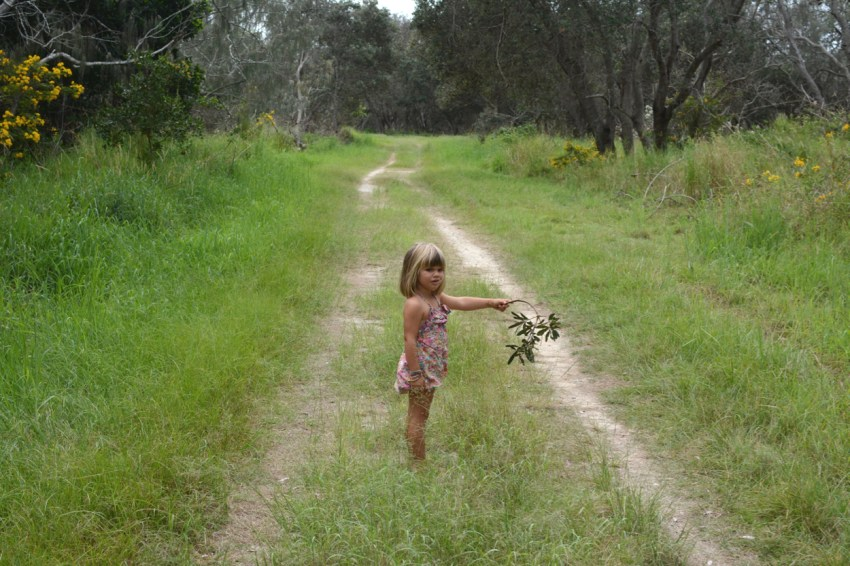 Marlow on path to tea tree lake