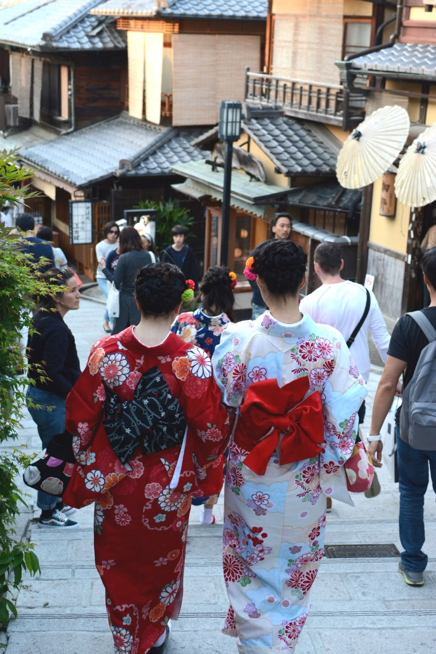 Japanese women in Kyotos