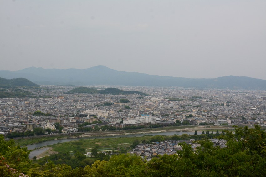 views of kyoto from Monkey Park