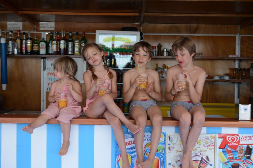 four kids on bar 2014