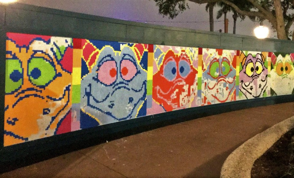 Festival of the Arts Paint-by-Number mural