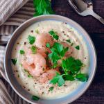 Creamy low-carb cauliflower soup