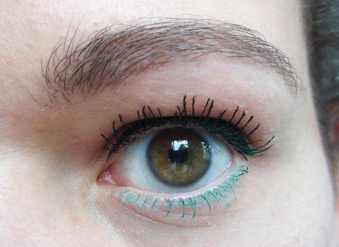 gekleurde mascara - groen onder