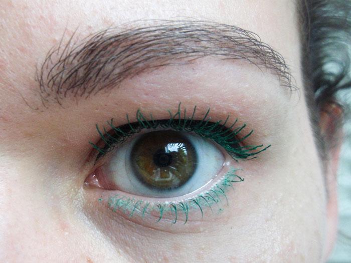 gekleurde mascara - groen