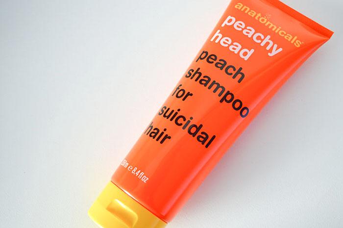 Anatomicals Peach shampoo for suicidal hair 4