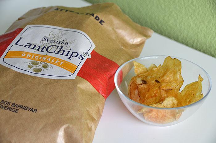 Zweedse lekkernijen uit de supermarkt - Svenska Lantchips